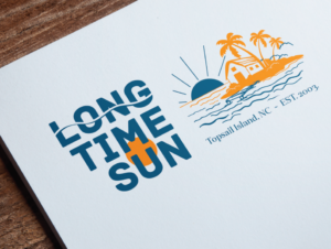 Дизайн логотипа для компании Long time sun. Logo desing for Long time sun company